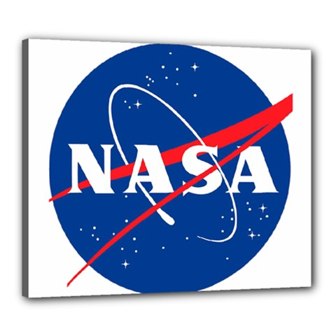Nasa Logo Canvas 24  X 20
