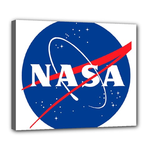 Nasa Logo Deluxe Canvas 24  X 20