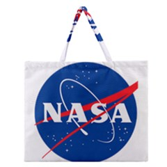Nasa Logo Zipper Large Tote Bag