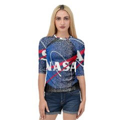 Nasa Logo Quarter Sleeve Raglan Tee