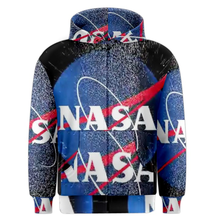 Nasa Logo Men s Zipper Hoodie