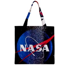 Nasa Logo Zipper Grocery Tote Bag