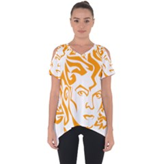 Michael Jackson Cut Out Side Drop Tee