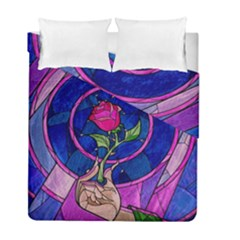 Enchanted Rose Stained Glass Duvet Cover Double Side (full/ Double Size)