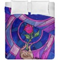 Enchanted Rose Stained Glass Duvet Cover Double Side (California King Size) View1