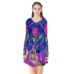Enchanted Rose Stained Glass Flare Dress