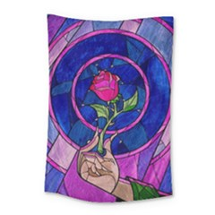 Enchanted Rose Stained Glass Small Tapestry