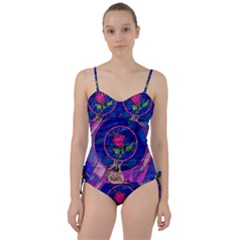 Enchanted Rose Stained Glass Sweetheart Tankini Set