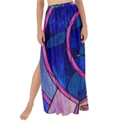 Enchanted Rose Stained Glass Maxi Chiffon Tie Up Sarong