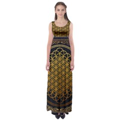 Bring Me The Horizon Cover Album Gold Empire Waist Maxi Dress