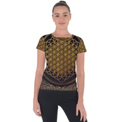 Bring Me The Horizon Cover Album Gold Short Sleeve Sports Top