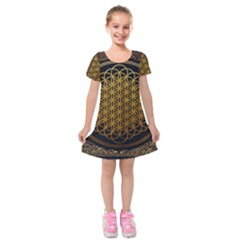Bring Me The Horizon Cover Album Gold Kids  Short Sleeve Velvet Dress