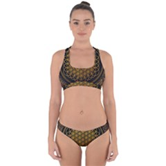 Bring Me The Horizon Cover Album Gold Cross Back Hipster Bikini Set