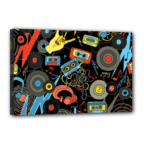 Music Pattern Canvas 18  X 12
