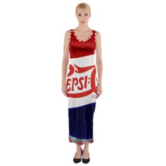 Pepsi Cola Fitted Maxi Dress