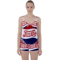 Pepsi Cola Tie Front Two Piece Tankini