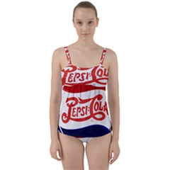 Pepsi Cola Twist Front Tankini Set