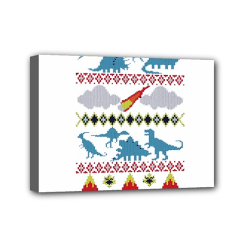 My Grandma Likes Dinosaurs Ugly Holiday Christmas Mini Canvas 7  X 5