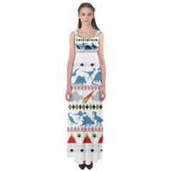 My Grandma Likes Dinosaurs Ugly Holiday Christmas Empire Waist Maxi Dress