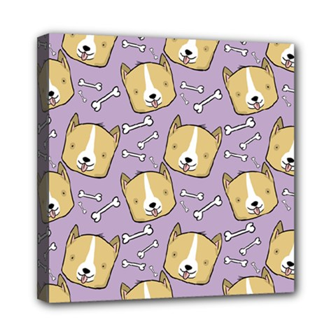 Corgi Pattern Mini Canvas 8  X 8