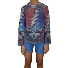 Grateful Dead Logo Kids  Long Sleeve Swimwear