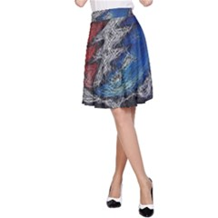 Grateful Dead Logo A Line Skirt