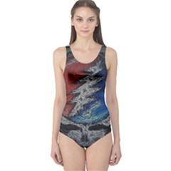 Grateful Dead Logo One Piece Swimsuit