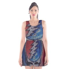 Grateful Dead Logo Scoop Neck Skater Dress