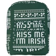 Kiss Me I m Irish Ugly Christmas Green Background Full Print Backpack