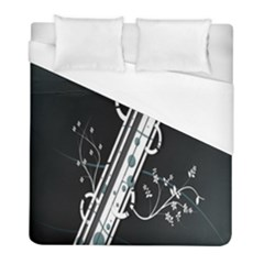 Line Light Leaf Flower Floral Black White Beauty Polka Duvet Cover (full/ Double Size)