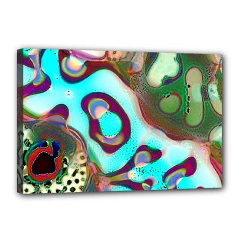 Multiscale Turing Pattern Recursive Coupled Stone Rainbow Canvas 18  X 12