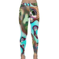 Multiscale Turing Pattern Recursive Coupled Stone Rainbow Classic Yoga Leggings
