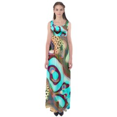 Multiscale Turing Pattern Recursive Coupled Stone Rainbow Empire Waist Maxi Dress