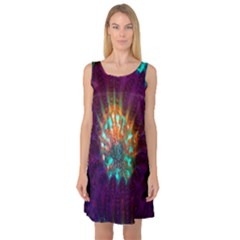 Live Green Brain Goniastrea Underwater Corals Consist Small Sleeveless Satin Nightdress