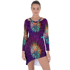 Live Green Brain Goniastrea Underwater Corals Consist Small Asymmetric Cut Out Shift Dress