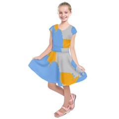 Map Transform World Kids  Short Sleeve Dress