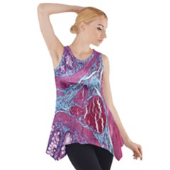 Natural Stone Red Blue Space Explore Medical Illustration Alternative Side Drop Tank Tunic