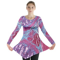Natural Stone Red Blue Space Explore Medical Illustration Alternative Long Sleeve Tunic