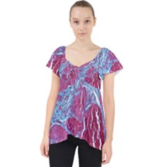 Natural Stone Red Blue Space Explore Medical Illustration Alternative Dolly Top