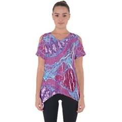 Natural Stone Red Blue Space Explore Medical Illustration Alternative Cut Out Side Drop Tee
