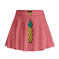 Pineapple Fruite Minimal Wallpaper Mini Flare Skirt