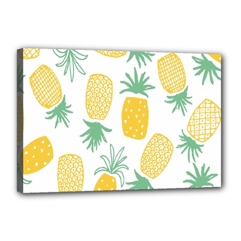 Pineapple Fruite Seamless Pattern Canvas 18  X 12