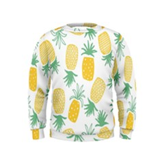 Pineapple Fruite Seamless Pattern Kids  Sweatshirt