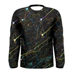 Neurons Light Neon Net Men s Long Sleeve Tee