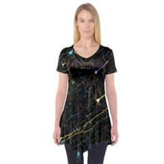 Neurons Light Neon Net Short Sleeve Tunic