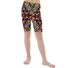 Queen Design 456 Kids  Mid Length Swim Shorts