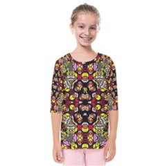 Queen Design 456 Kids  Quarter Sleeve Raglan Tee