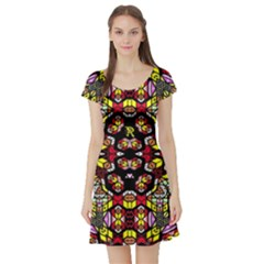 Queen Design 456 Short Sleeve Skater Dress