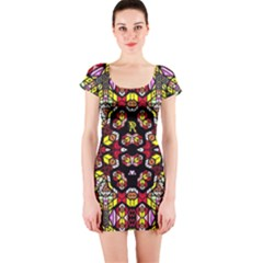 Queen Design 456 Short Sleeve Bodycon Dress