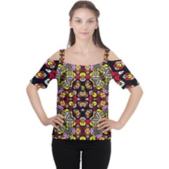 Queen Design 456 Cutout Shoulder Tee
